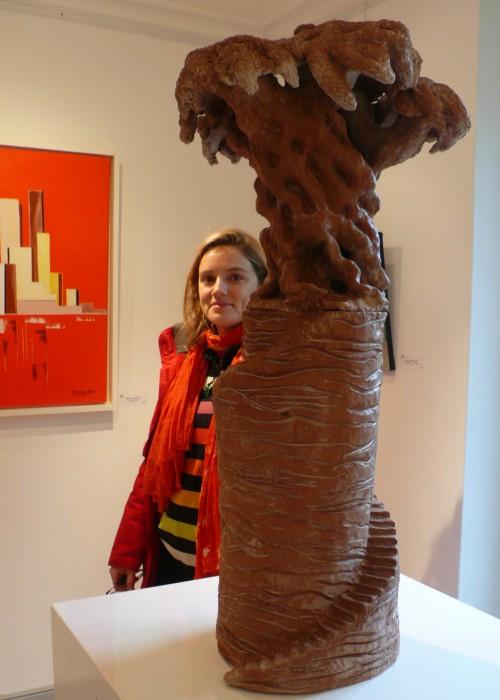 Laurence Kupfer, Olivier en terre rouge, prix à l'expo Quality art du Plessis Trévise